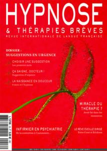Revue Hypnose Thérapies Brèves Fevrier Mars Avril 2010