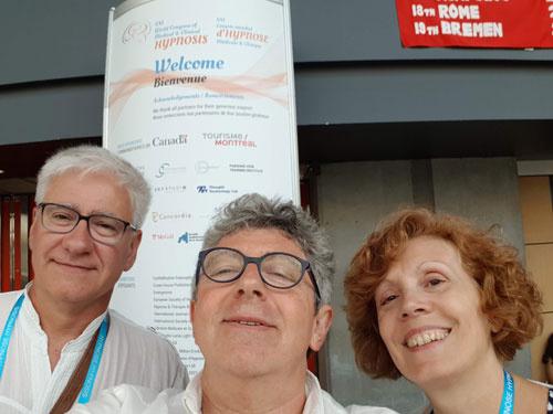 Gilles BESSON, Laurent GROSS et Sylvie BELLAUD au congrès mondial 2018 à Montréal
