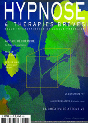Revue Hypnose Thérapies Brèves Mai Juin Juillet 2011